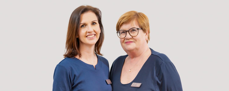 Frau Christiane Kirchner und Frau Dr. Ingeborg Doberenz, HNO-Ärztinnen